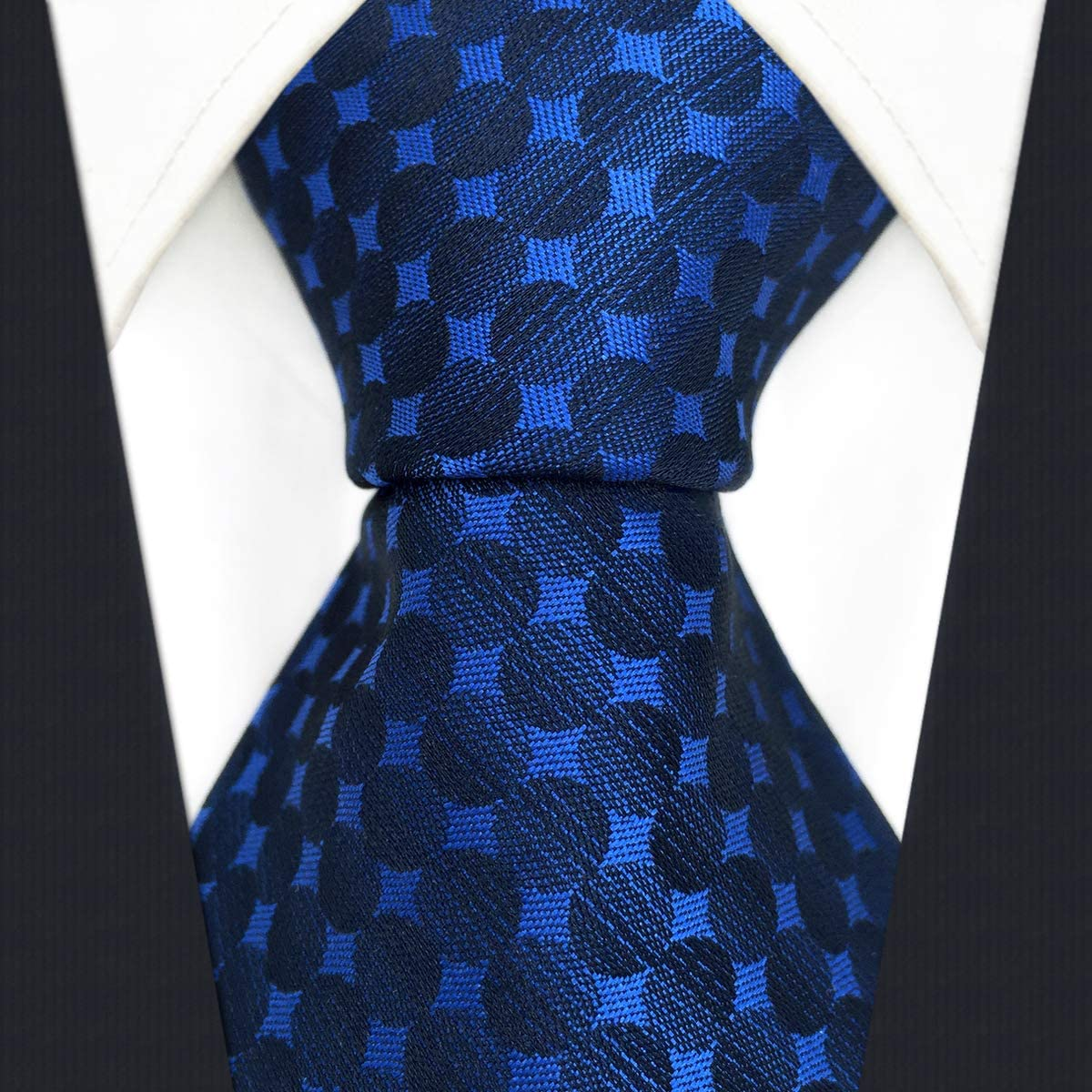 Cravate 147cm/×8cm S/&W SHLAX/&WING Cravate Homme Sets Extra Long for Suit Soie Carr/é de Poche,Bleu Carr/é de Poche,Cravate 147cm/×8cm