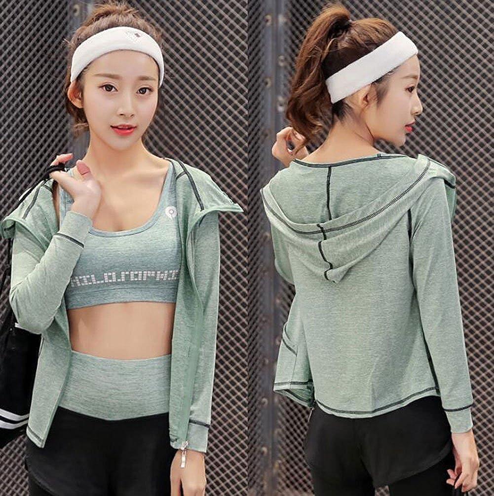 Vert, Small Zetiy Femmes 5 Pi/èces Ensembles Sportswear Yoga Gym Tenues Surv/êtement