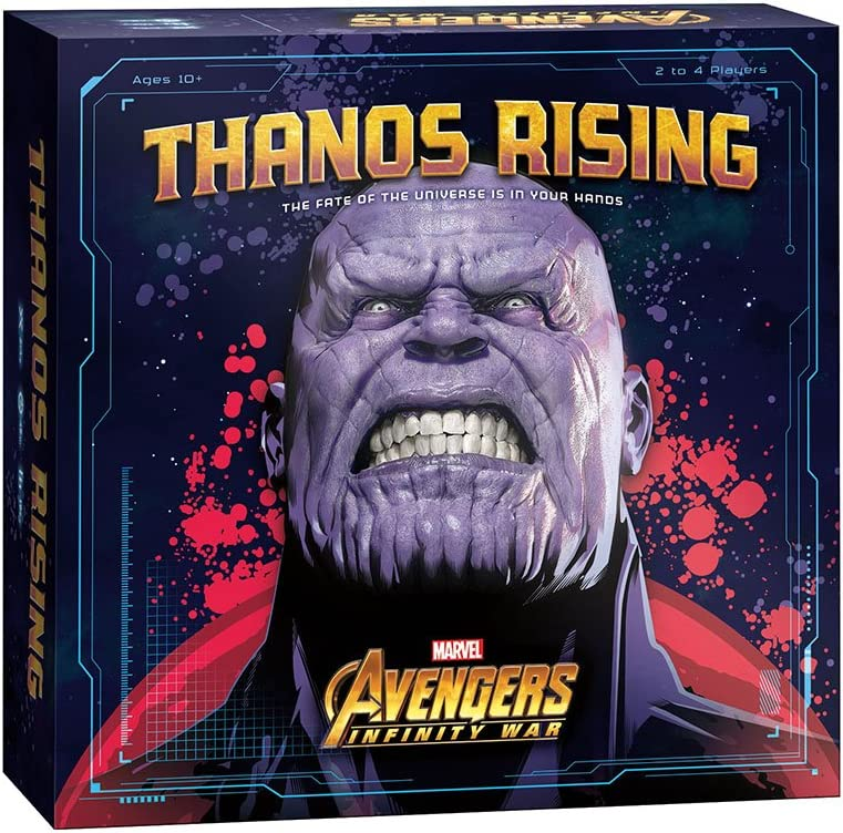 USAOPOLY Thanos Rising: Avengers Infinity War Cooperative Dice and Card Game | Marvel Avengers Endgame and Avengers Infinity War Movies | Collectible Thanos Figure Included