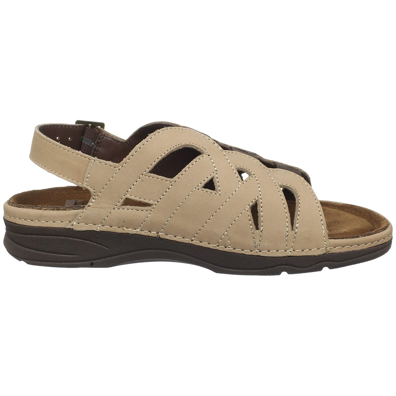 Drew Shoe Women's Sandy Sandal B003YUMEQG 8 XW US|Sand Nubuck