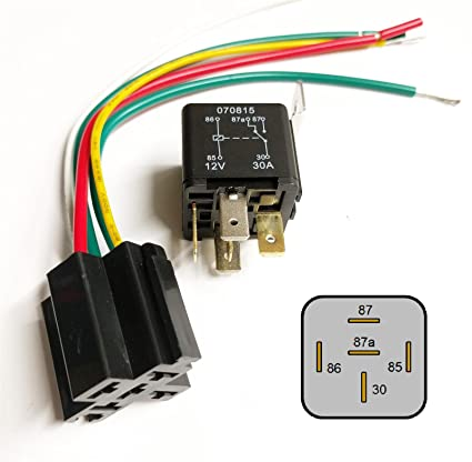 amazon com: auto bike relay 30amp 12v 30a & wired base fuse box radio  installation looms: automotive
