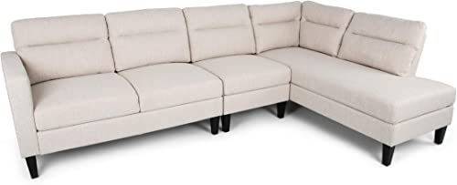 Aurora Modern Fabric Upholstered 4 Seater Sectional Sofa