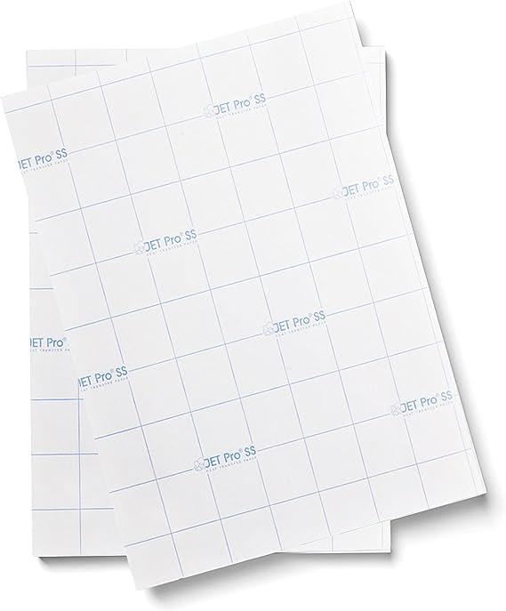 10 x A4 hojas de jet-pro ® Sofstretch de inyección de tinta papel de transferencia de calor para luces: Amazon.es: Oficina y papelería
