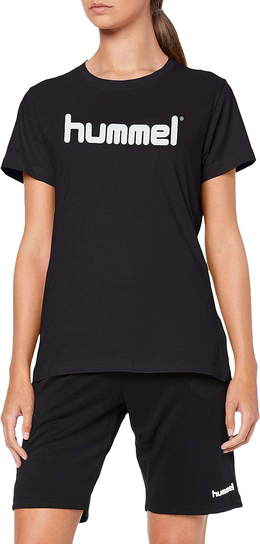 Schwarz Hummel Damen HMLGO COTTON LOGO T-shirts M