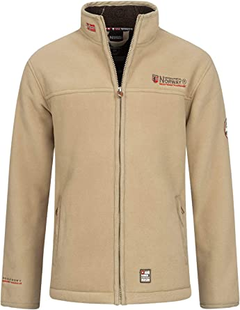 Geographical Norway ULMAIRE Mens Fleece Jacket Fleece Jacket Warm Teddy Fur Lining Size S XXXL.