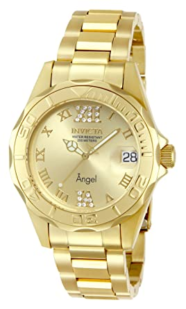Invicta Womens 14397 Angel Analog Swiss-Quartz Gold Watch
