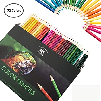 Amazon.com: happyyous 72 pcs profesional lápices de colores ...