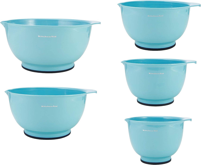 KitchenAid Classic Mixing Bowls, Set of 5, Aqua Sky 2