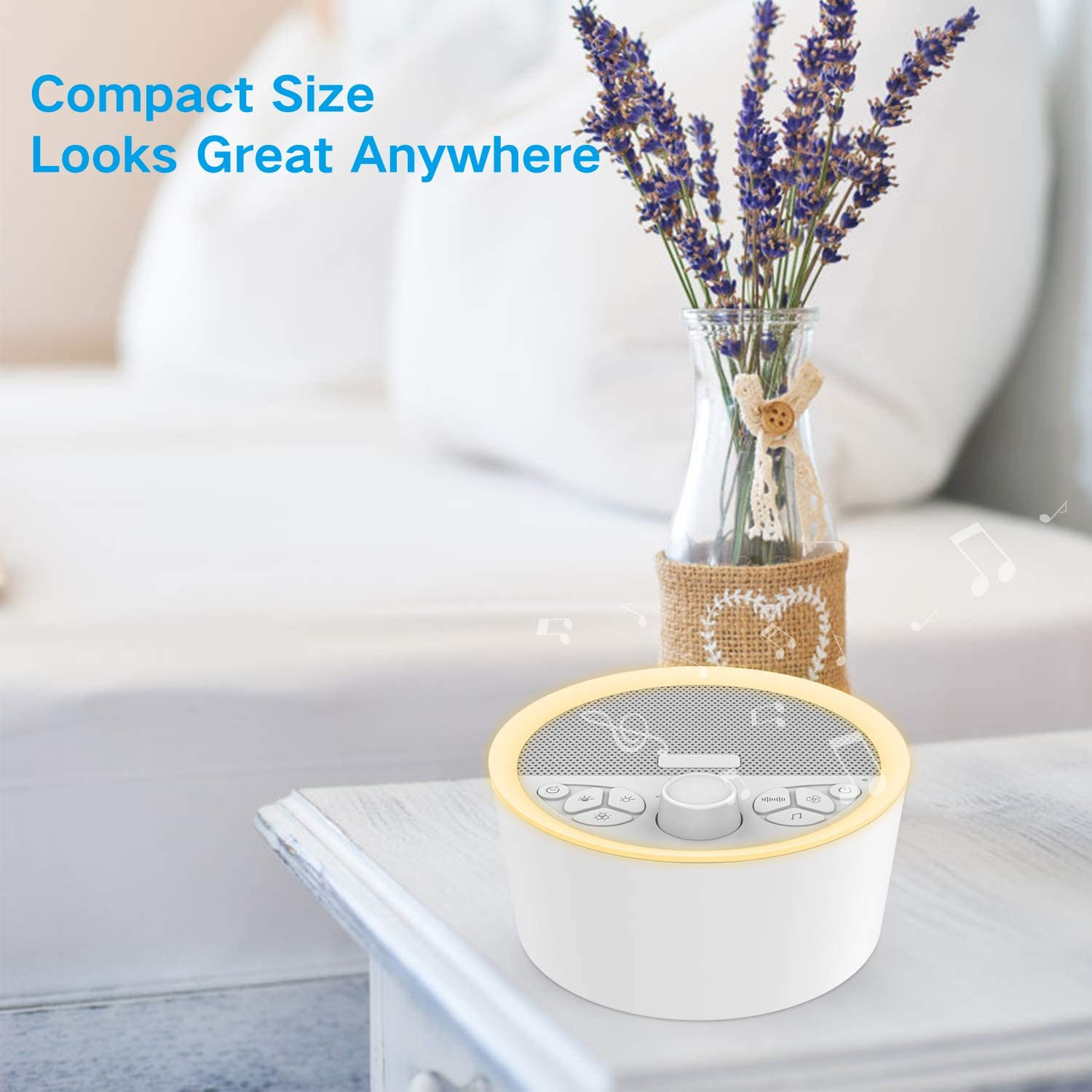 Home Office Timer /& Memory Feature Sound Machine for Baby /& Adults 14 High Fidelity Sleep Machine Soundtracks White Noise Machine with Baby Night Light for Sleeping