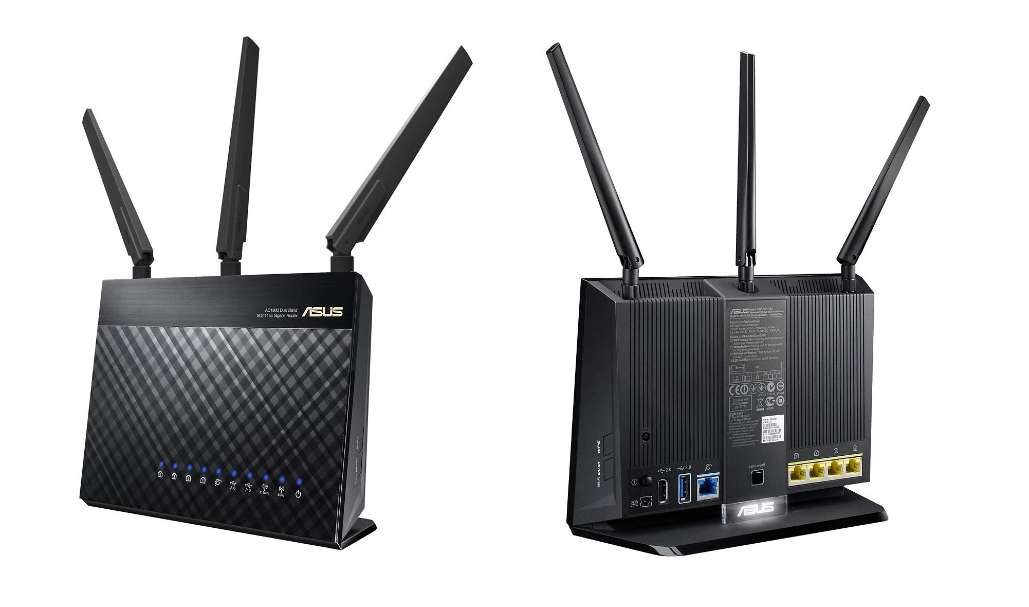 ASUS RT-AC1900P Router Dual-Band WiFi Router (Renewed) by ASUS