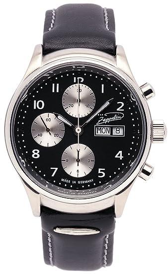 Zeppelin Classic Line 7410-2 - Reloj de caballero automático, correa de piel color negro: Amazon.es: Relojes