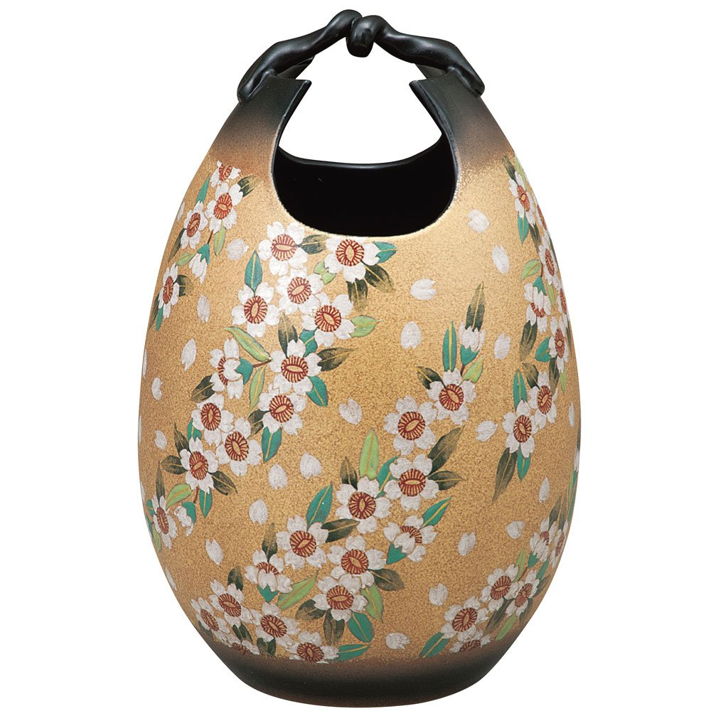 九谷焼 陶器 花瓶 桜舞 AK5-1358 B0721BZY5W