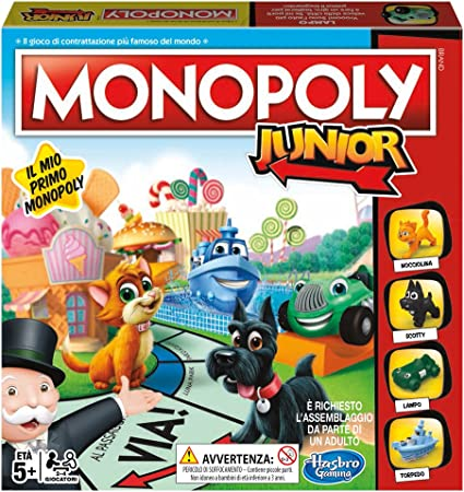 Hasbro Gaming Monopoly Junior Refresh (edición Italiana): Amazon.es: Juguetes y juegos