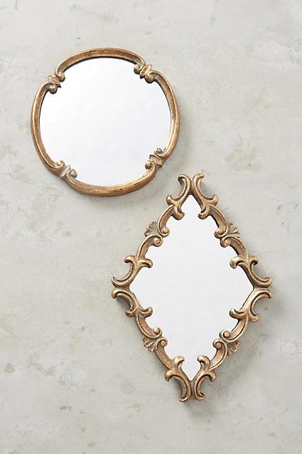 Swirling Crest Mirror - anthropologie.com