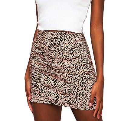❤️ Falda Leopardo Mujer Invierno Sexy, Leopardo de Las Mujeres Impreso Falda Cintura Alta Lápiz Atractivo Bodycon Hip Mini Falda Absolute: Ropa y accesorios