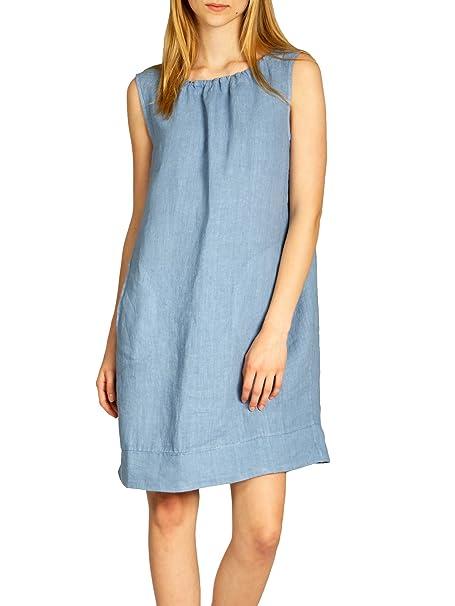 0f0345a73768 Caspar SKL017 Donna Vestito Estivo di Lino  Amazon.it  Abbigliamento