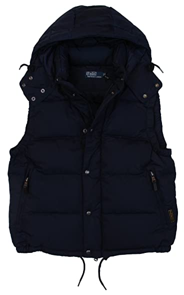 Polo Ralph Lauren Men\u0027s Elmwood Down Filled Puffer Vest - M- Navy