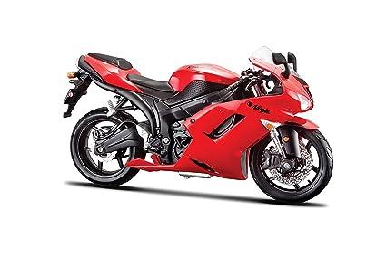 Maisto NEW 1:12 MOTORCYCLE COLLECTION - RED KAWASAKI NINJA ZX-6R By