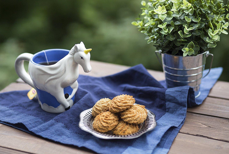 Ceramic Unicorn Coffee Mug w/ Rainbow by Comfify - Sweet & Fantastical 3D Unicorn Design w/ Magical Rainbow - Unique… 5