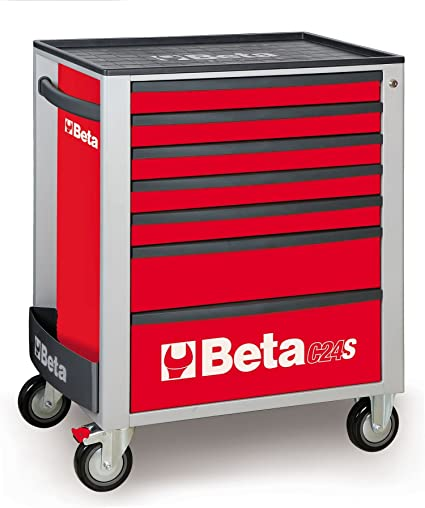 Herramientas Beta C24S/7 mecánica funda para armario con ruedas para cabina para herramientas en caja –