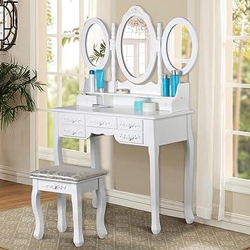 Joolihome Vanity Set für Schlafzimmer Schminktisch mit Spiegel ...