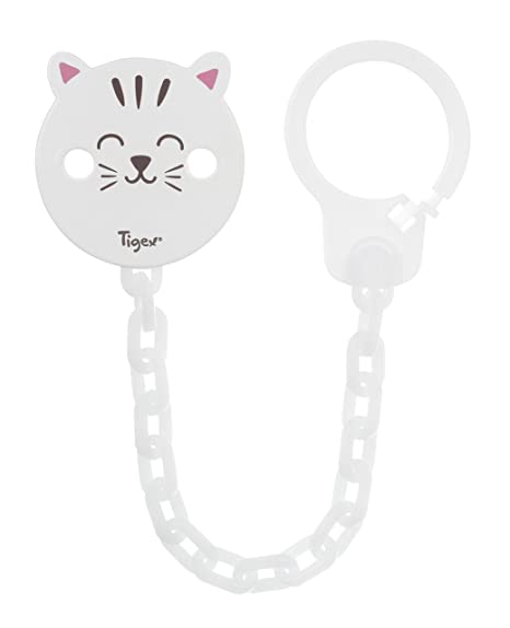 Tigex - Cinta Atachupete Soft Touch Gato Blanco: Amazon.es: Bebé