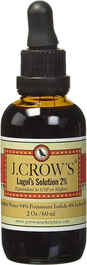J.Crow's Lugol's Iodine Solution, 2 oz, Twin Pack (2 Bottles)