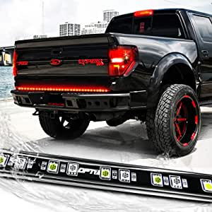 "OPT7 48"" Redline LED Tailgate Light Bar - TriCore LED - Weatherproof Rigid Aluminum No-Drill Install - Full Featured Reverse Running Brake Turn Signal"