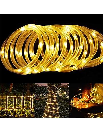 ShinePick 12 M 100 LED Guirnalda Luces Exterior para Árbol de Navidad(Blanco Cálido,