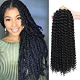 Dansama 7 Packs Passion Twist Hair Water Wave Braiding Hair for Butterfly Locs Crochet Braids Hair Extensions (18inch…