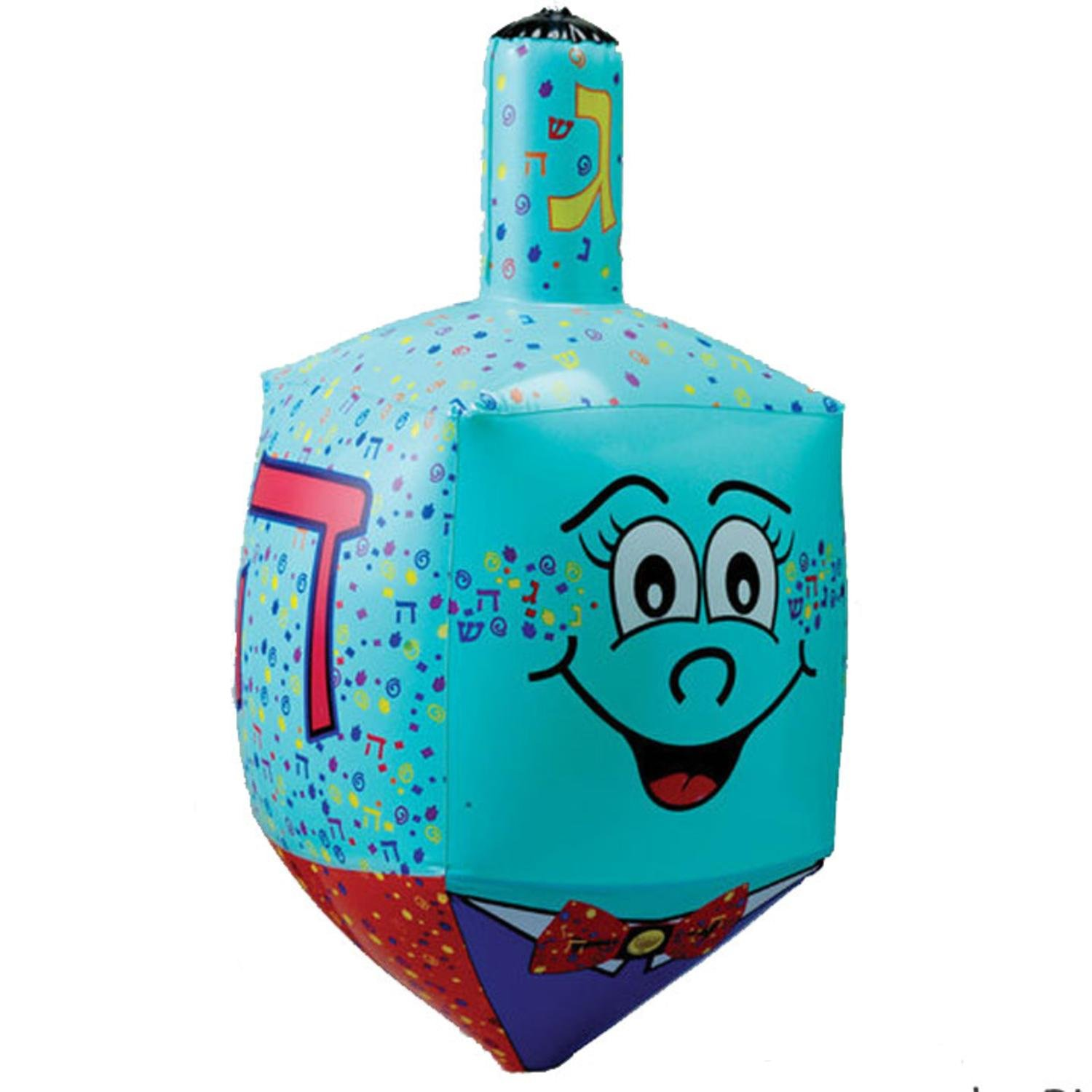 Amazon 235 Large Blue Inflatable Hanukkah Dreidel Decoration With Smiley Face Toys Games