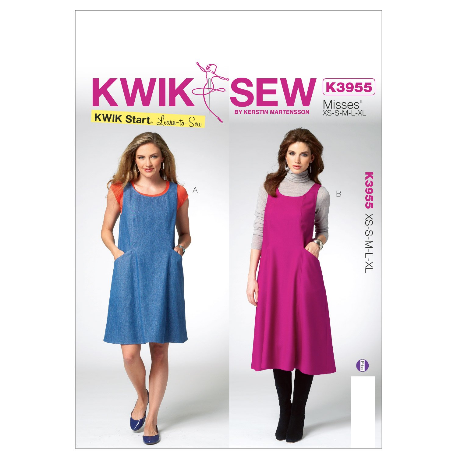 Amazon.com: Kwik Sew Patterns K3955 Misses Jumper Sewing Template ...