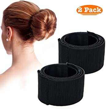 2 Pack Membrane Womens Styling Bun Maker Hair Styling Hairstyle