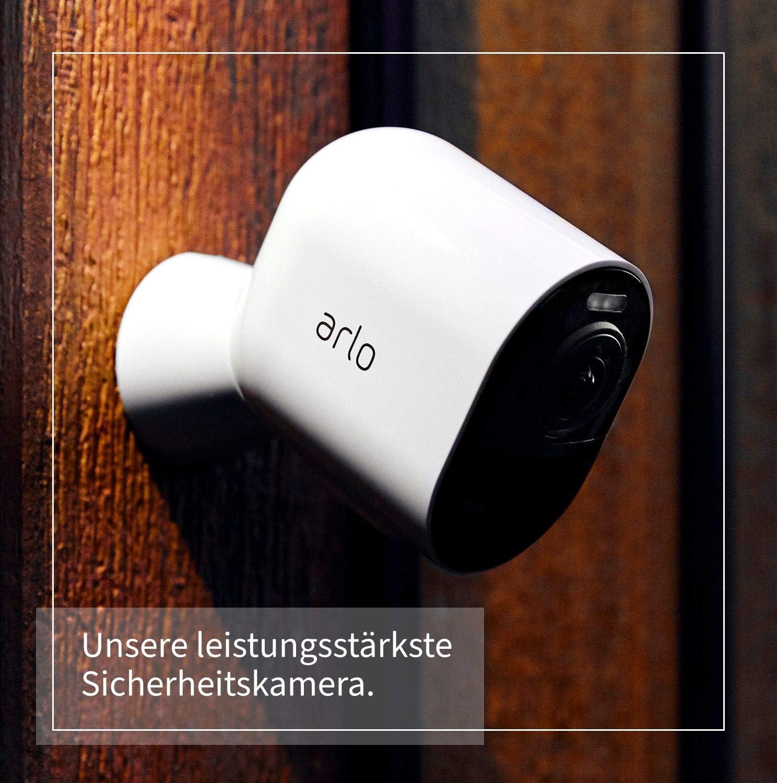 Arlo Ultra Wlan Überwachungskamera Alarmanlage Innen Aussen Kabellos Bewegungsmelder 4k Smart Home Farbnachtsicht 180 Grad Blickwinkel 2 Wege Audio Spotlight Vms5440 Weiß Baumarkt