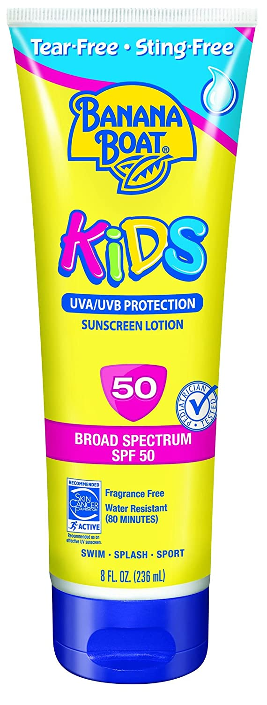 Banana Boat Sunscreen Kids Tear-Free Sting-Free Broad Spectrum Sun Care Sunscreen Lotion - SPF 50, 8 Ounce
