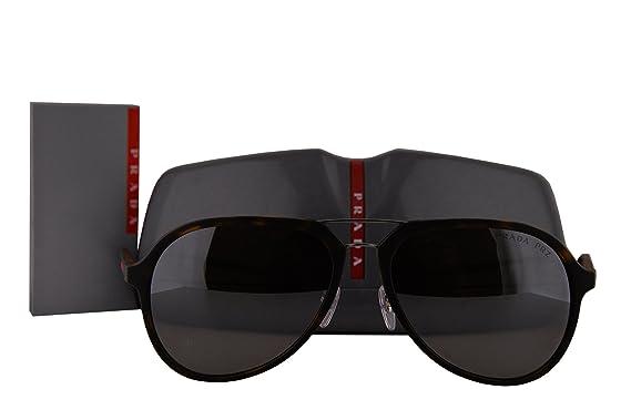 b3654f90390 Prada PS05RS Sunglasses Brown Havana w Polarized Gray Gradient Mirror Lens  U615K0 SPS05R  Amazon.co.uk  Clothing