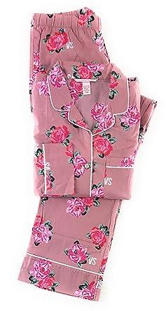 7de38920d3e Victoria s Secret Women s The Lightweight Cotton PJ 2Piece Set Nostalgia  Rose Floral ...