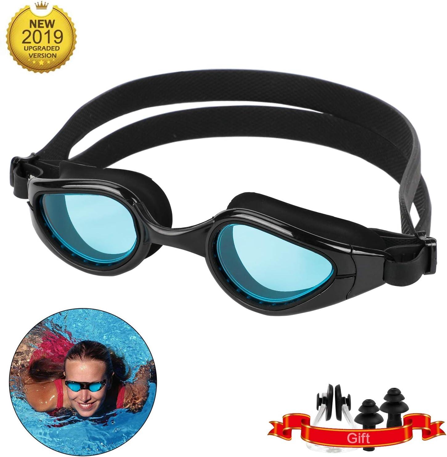 Lyeiaa Gafas de Natación, Antiniebla Gafas Natacion,Protección UV sin Fugas,Protección Radiológica, índice de Protección Solar de 400+ Gafas para Nadar para Adulto Hombre Mujer y Niños