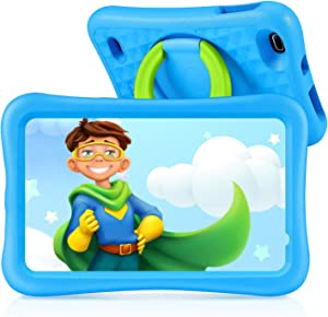 """VANKYO MatrixPad S8 8 inch Kids Tablet, Android 9.0, 2GB RAM, 32GB ROM, Kidoz Pre Installed, 8"""" IPS HD Display, WiFi Tablet for Kids, Kid-Proof Case, Blue"""