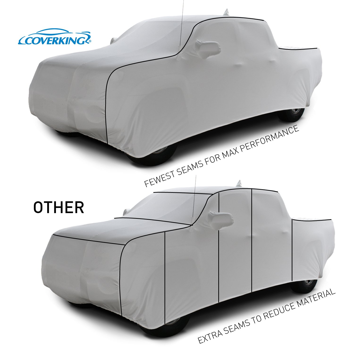 CVC5N98CH2004 Gray Coverbond 4 Coverking Custom Fit Car Cover for Select Chevrolet El Camino Models