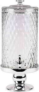 Home Essentials 2773-HE Monaco Diamond Beverage Dispenser with Metal Base, 2-Gallon