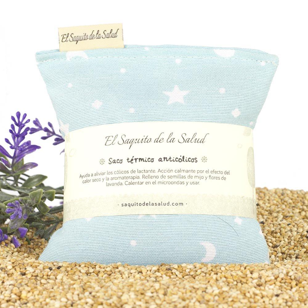 Saco Térmico de Semillas Anti Cólico del Lactante aroma a Lavanda Celeste con Estrellitas: Amazon.es: Bebé