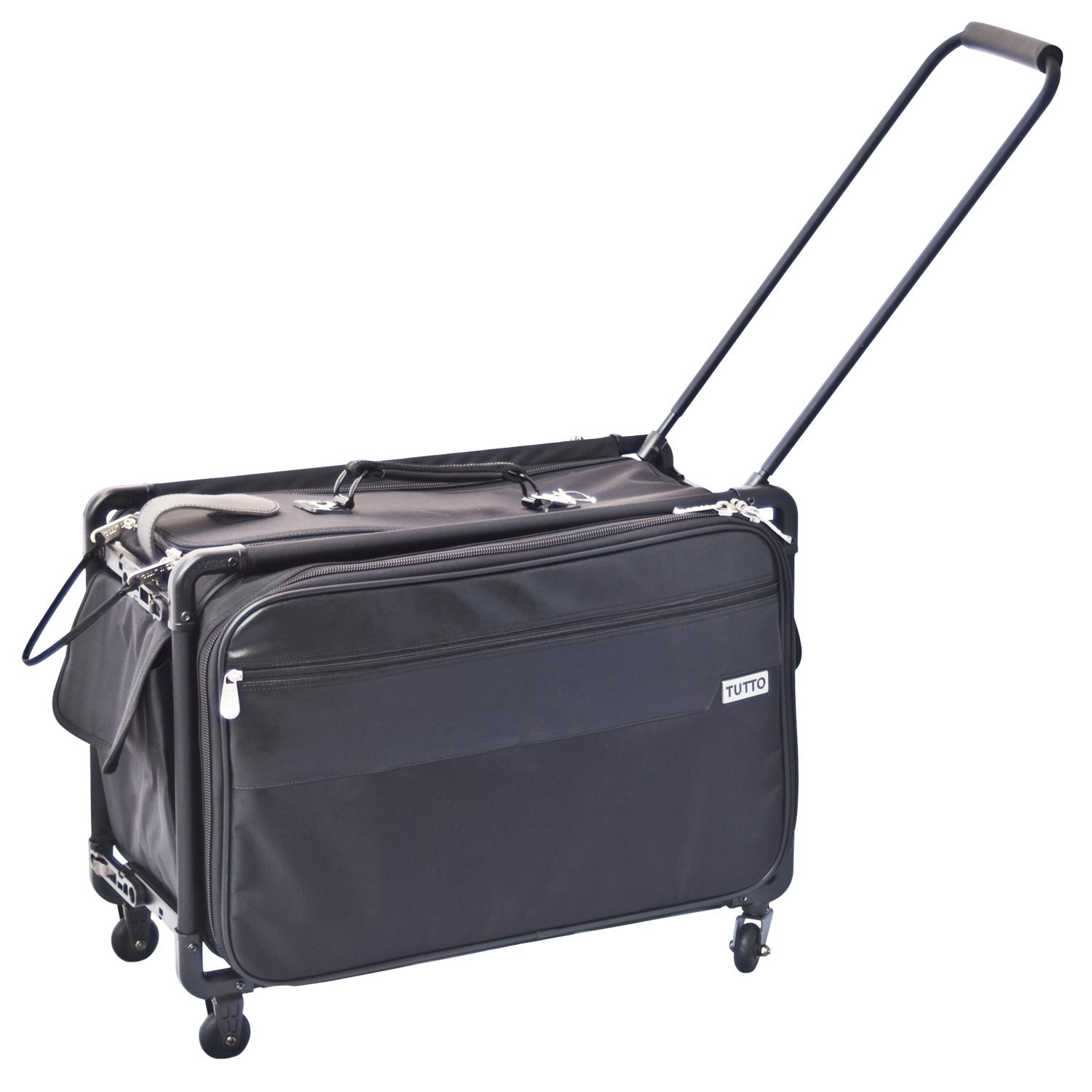 TUTTO 20-Inch Regular Office on Wheels for Laptop, Black (4220BCC)