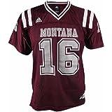 457239043ea adidas Montana Grizzlies NCAA Maroon Official Home #16 Replica Football  Jersey Youth