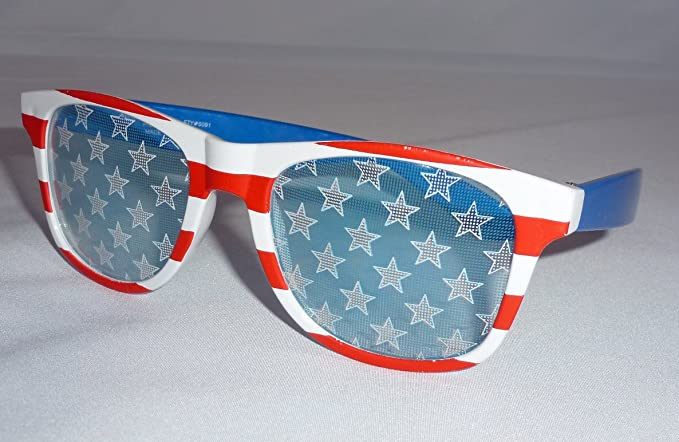 b7d504c356b8 Image Unavailable. Image not available for. Color  American Flag Sunglasses  ...