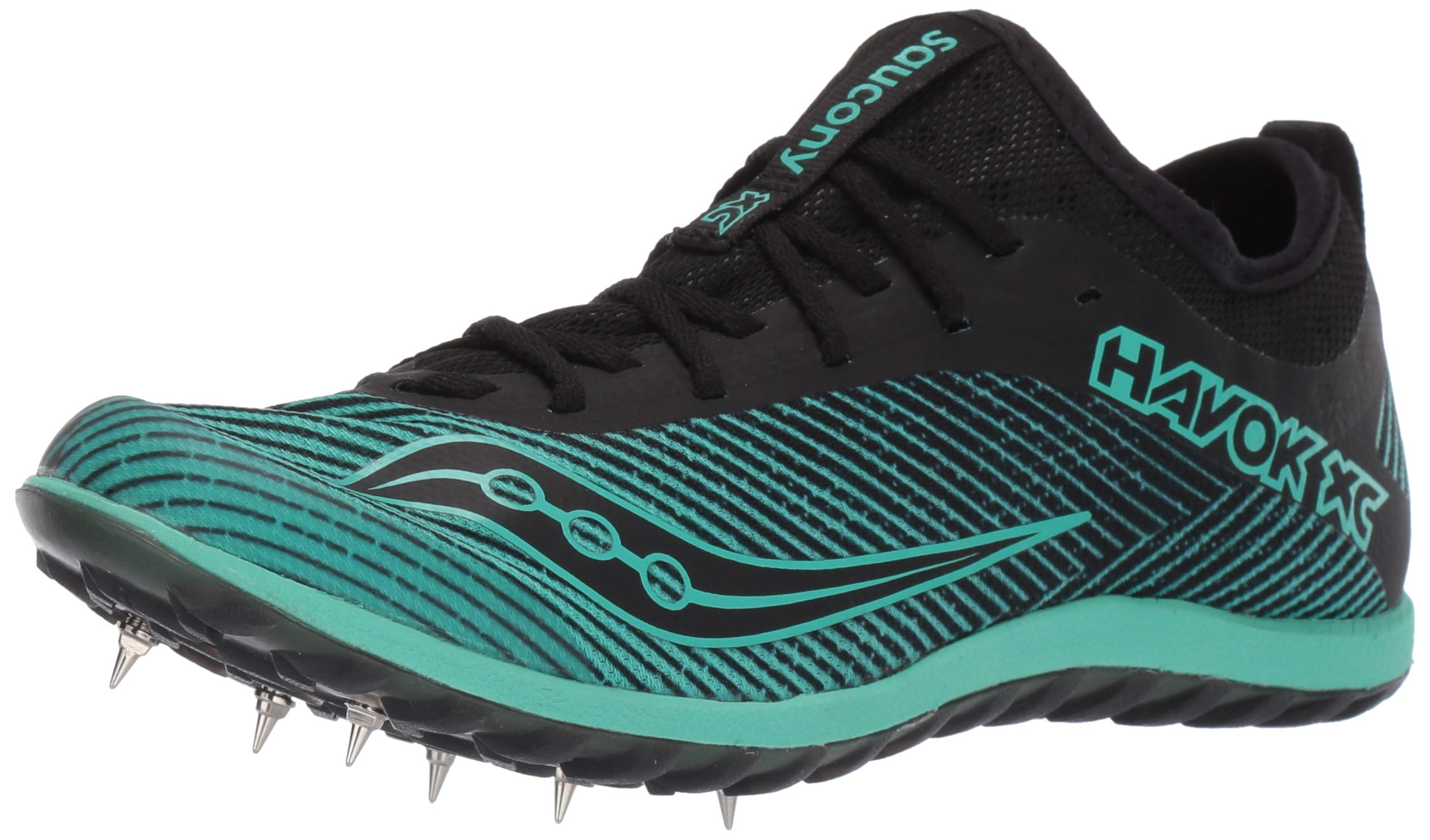 Saucony Women's Havok XC2 Track and Field Shoe, Black/Green, 8 Medium US by Saucony
