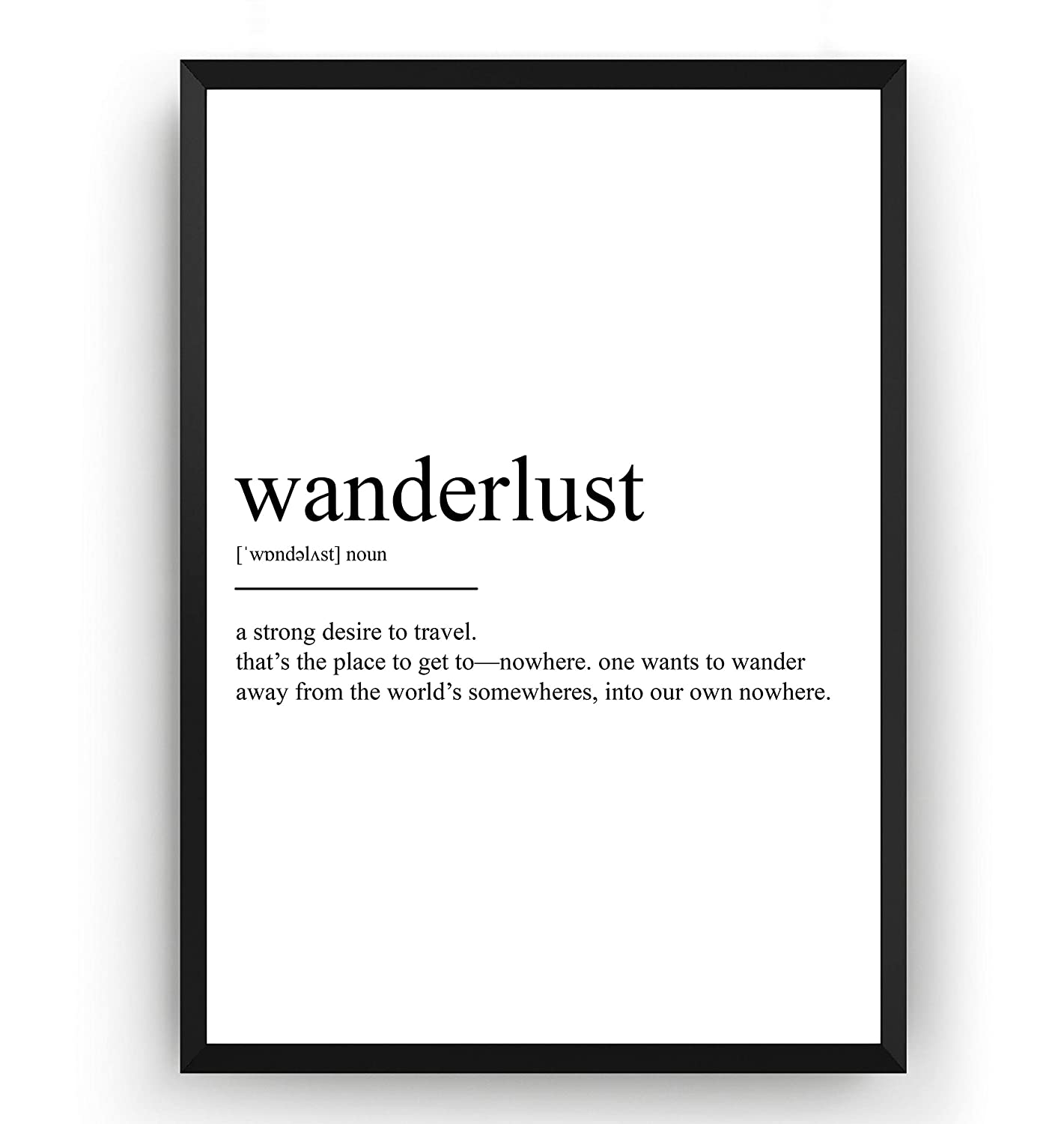 Motivational Travel Quotes Framed Pictures Wanderlust Wall Art Bedroom Prints