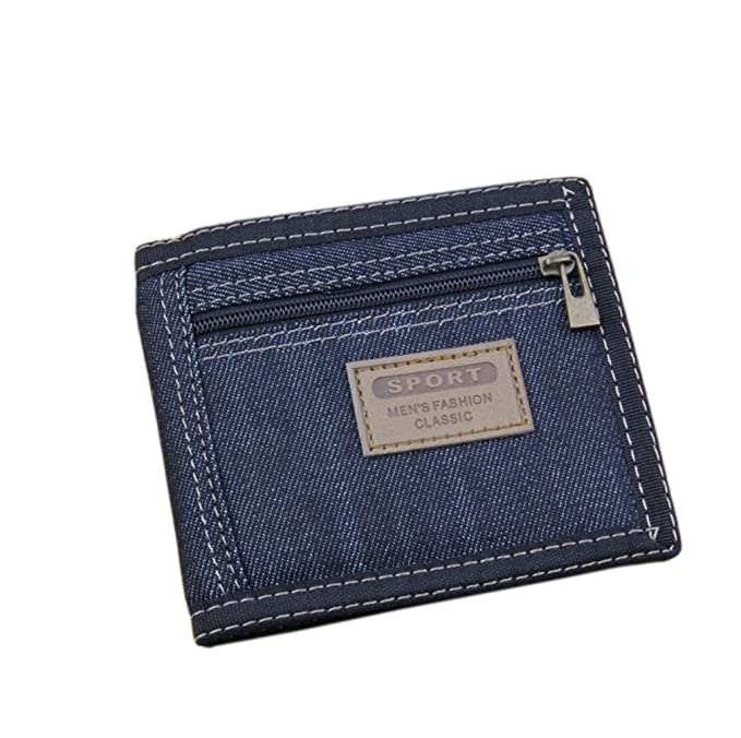 Amazon.com: Canvas cowboy mens Wallet,Credit Carder Holder ...