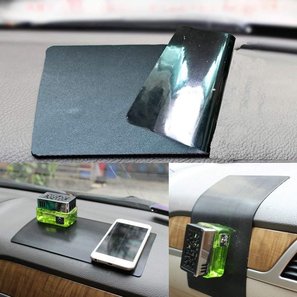 New Anti-Slip Non-Slip Mat Car Dashboard Super Sticky Pad Anti-Slip Gel Pad, Cell Phone Mount Holder Mat by ZhuTook for GPS, Sunglasses, Keys and More (Black-car Skin Pattern, 16''X8'')
