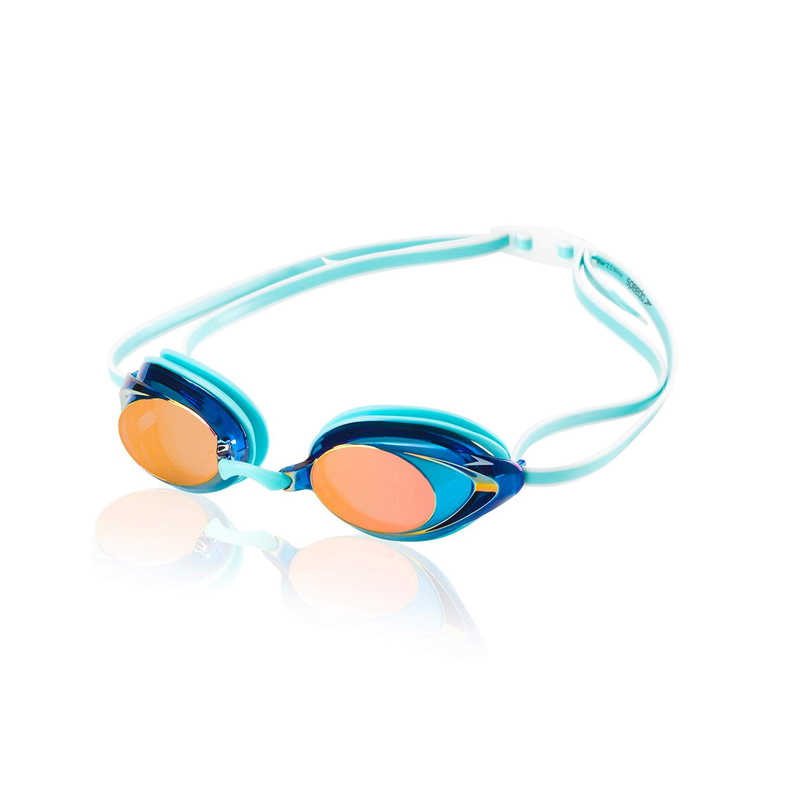 Speedo Women's Vanquisher 2.0 Mirrored Swim Goggles, Panoramic, Anti-Glare, Anti-Fog with UV Protection by Speedo